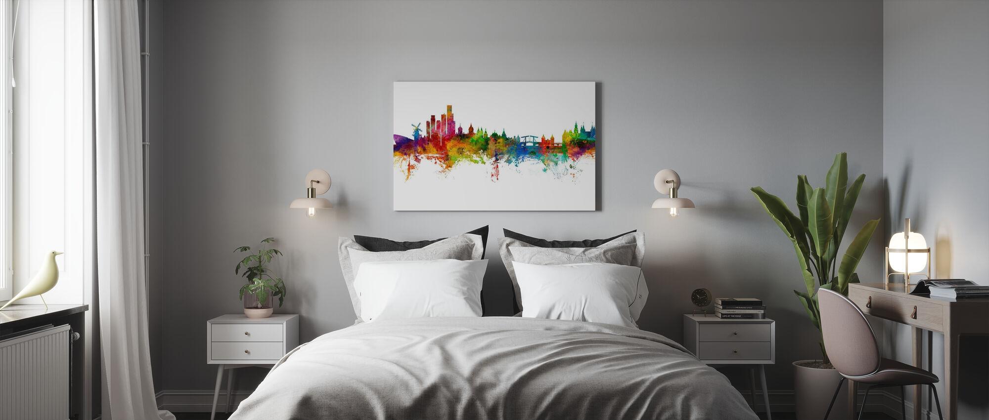 Amsterdam Skyline windmill - Canvas print - Bedroom