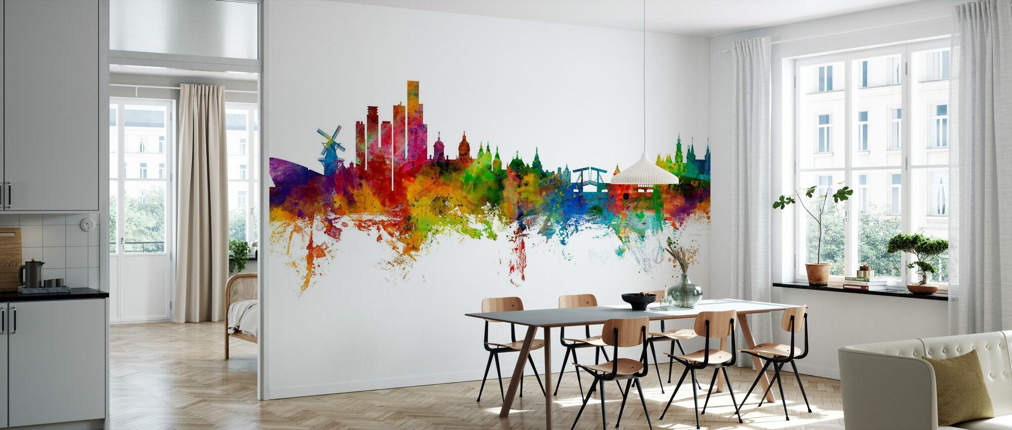Amsterdam Skyline windmill - Wallpaper - Kitchen