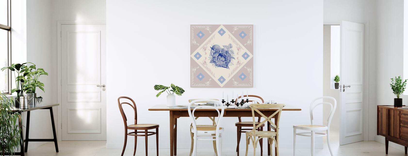 Dormouse, Blue Pink - Canvas print - Kitchen
