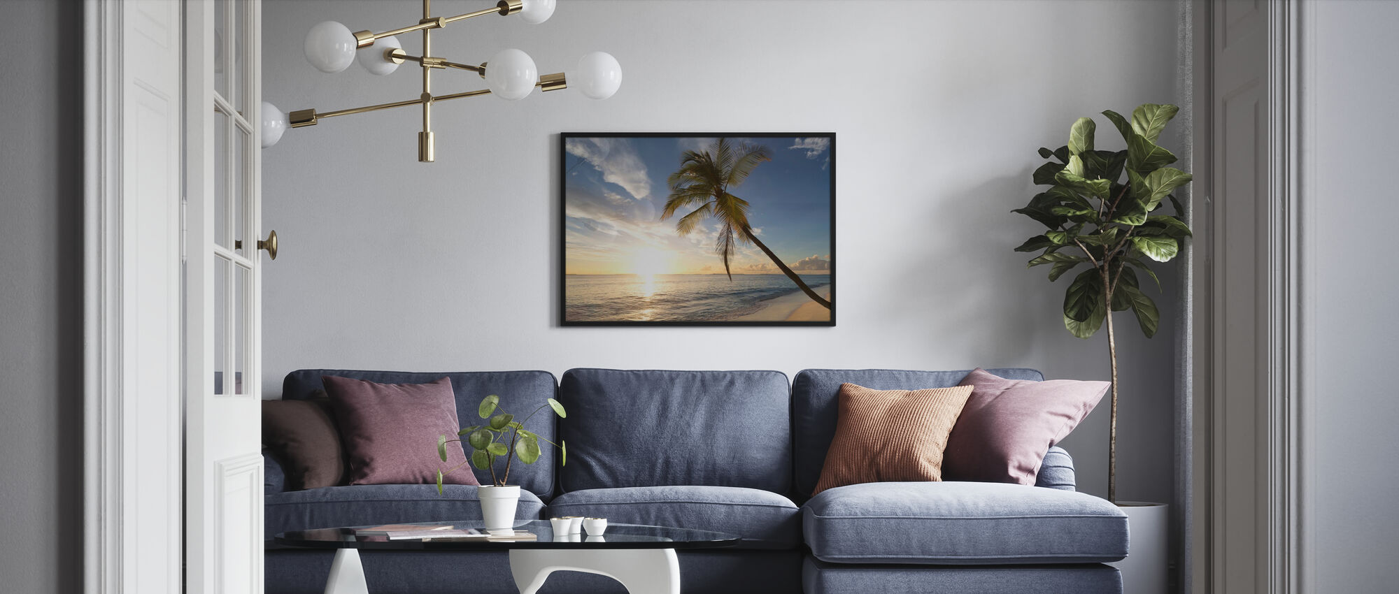 Tropical Sunset - Framed print - Living Room