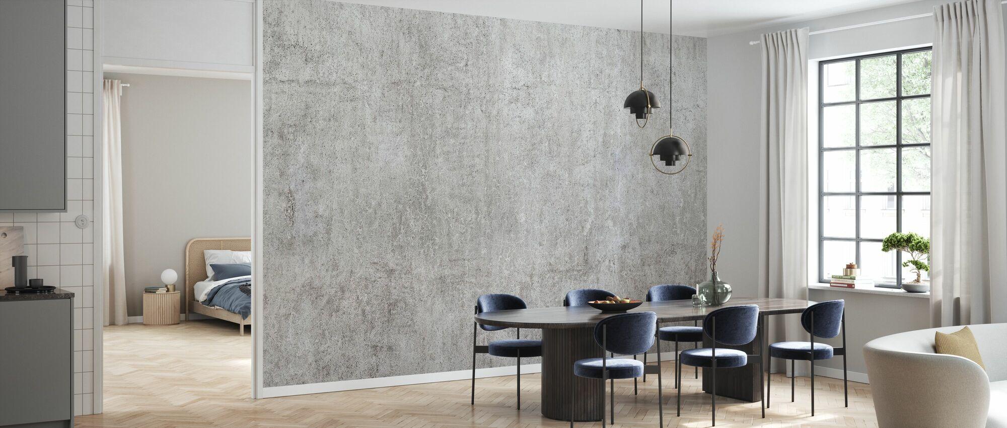Industrial Concrete Wall - Wallpaper - Kitchen