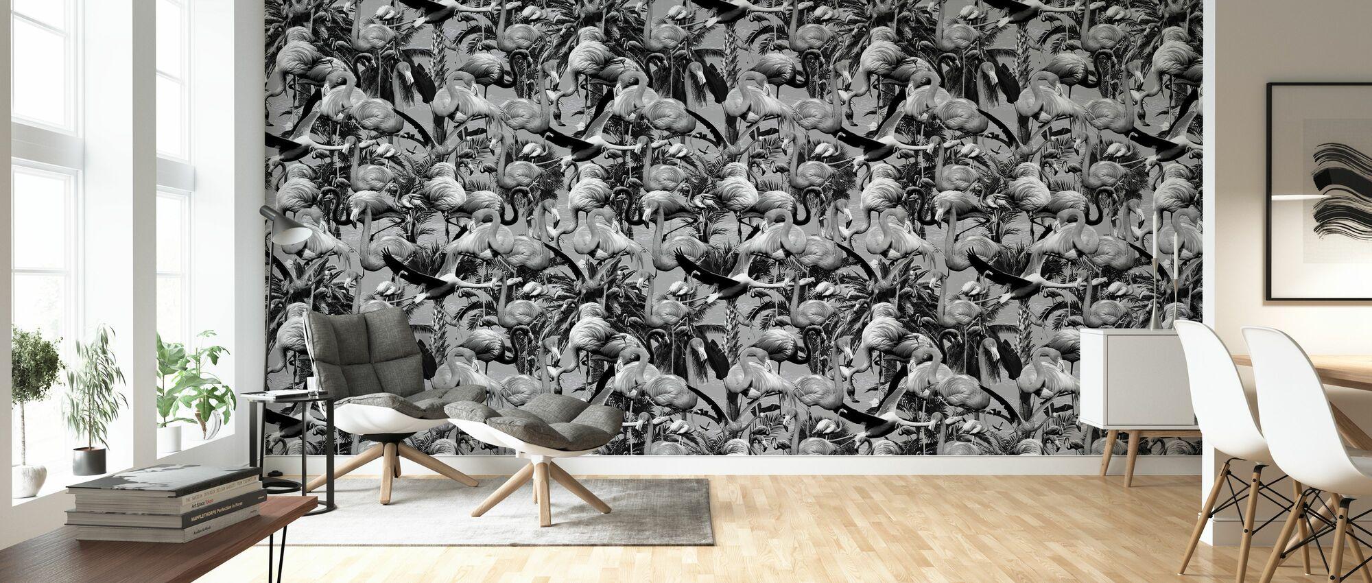 Flamingos London - Wallpaper - Living Room