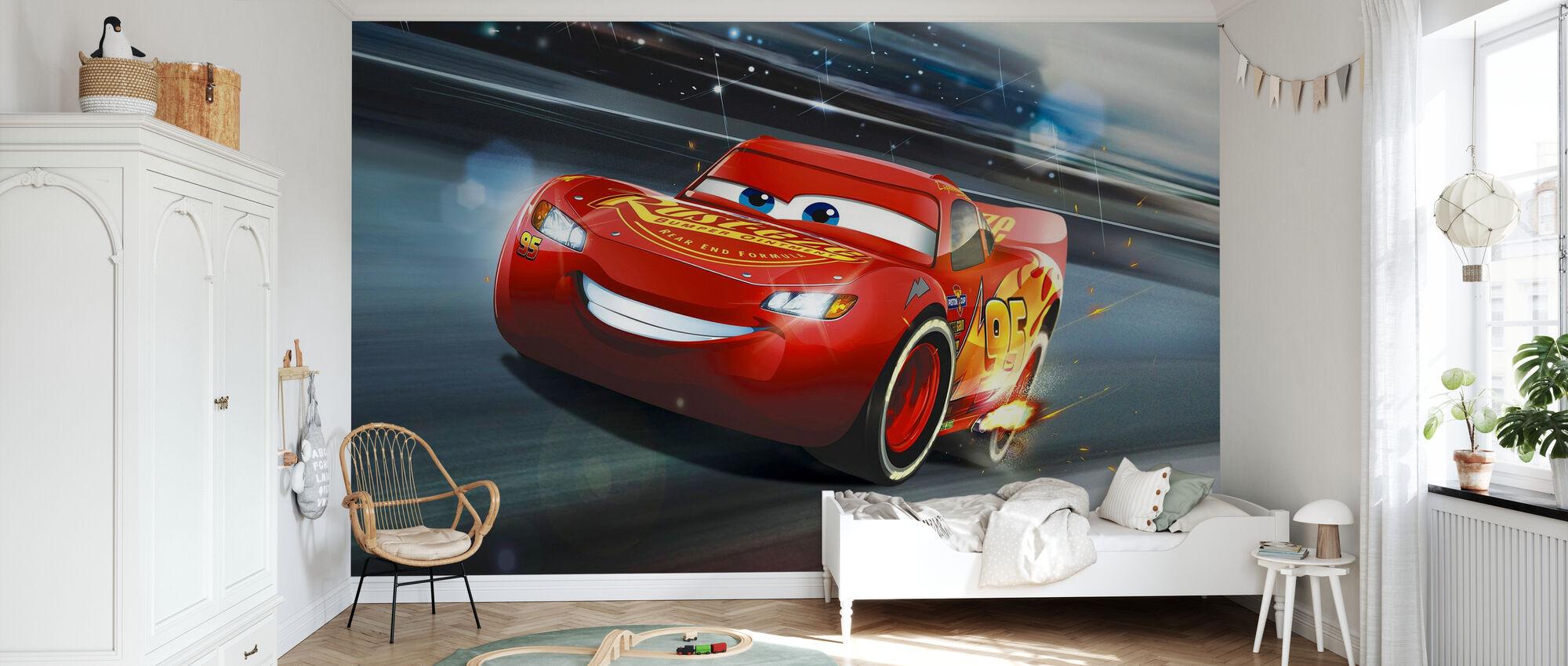 Bilar 3 - Blixten McQueen - Legend of the Track - Tapet - Barnrum