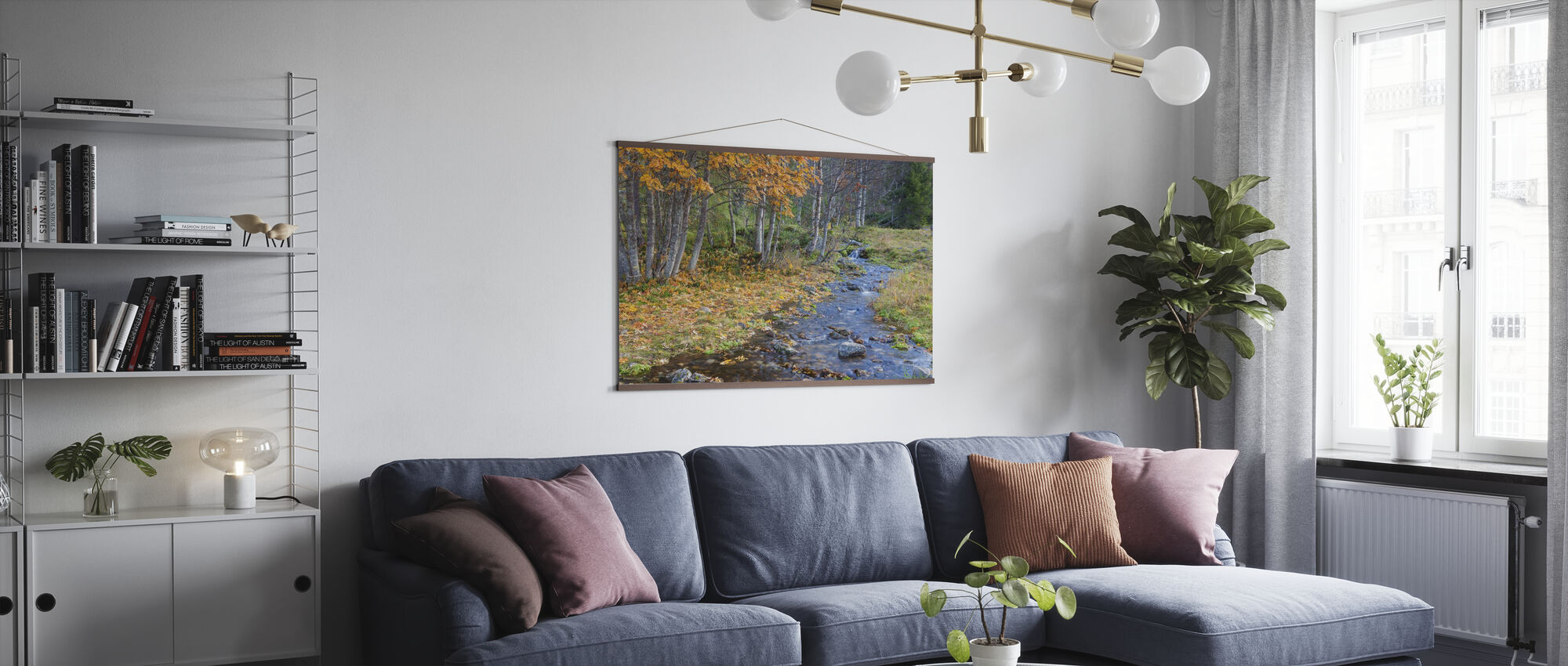 Autumn River - Poster - Living Room