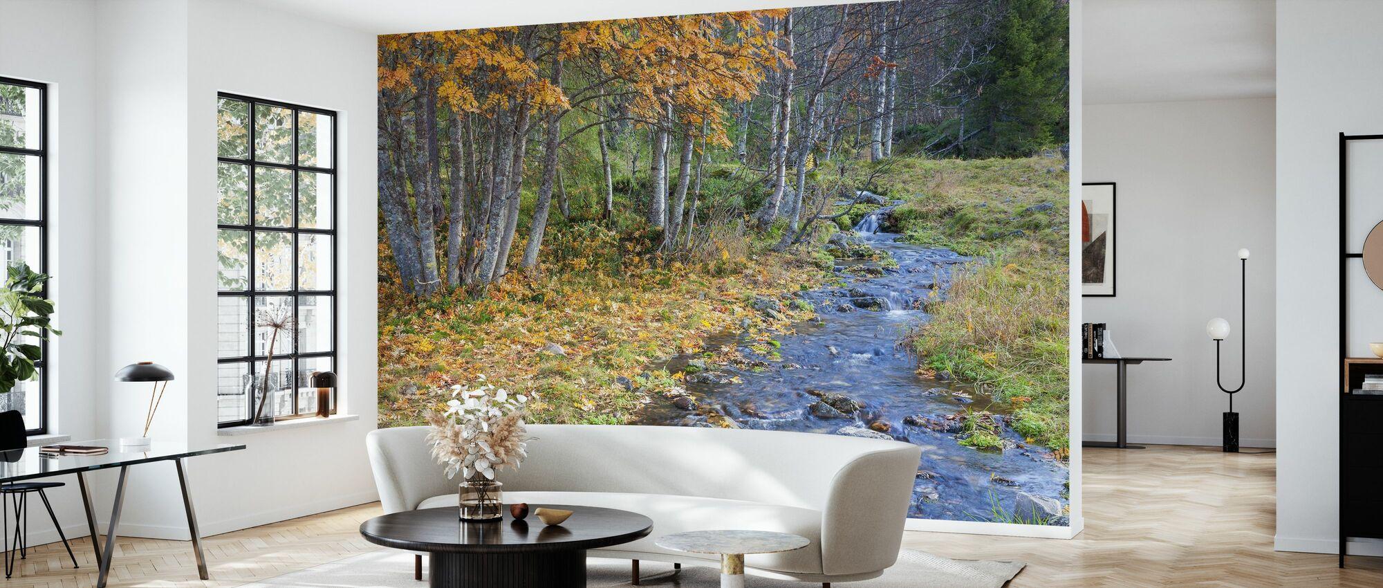 Autumn River - Wallpaper - Living Room
