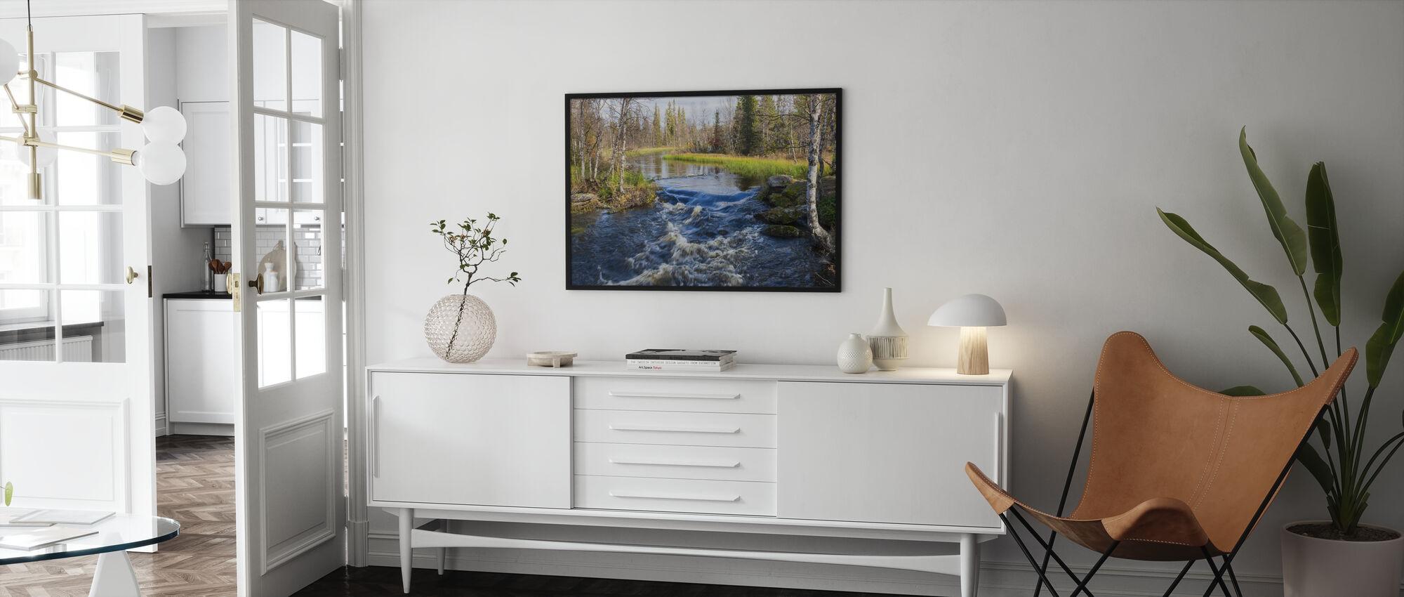 Lapland River - Framed print - Living Room