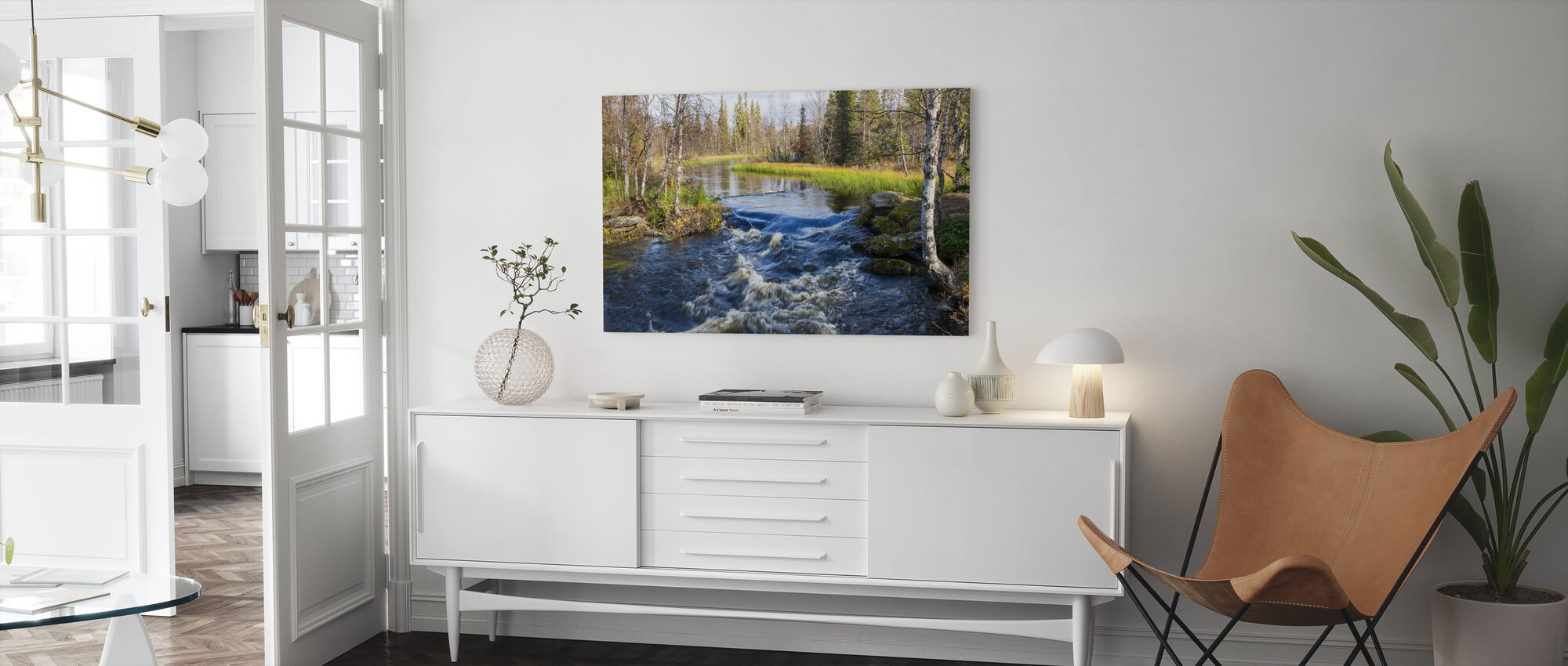 Lapland River - Canvas print - Living Room