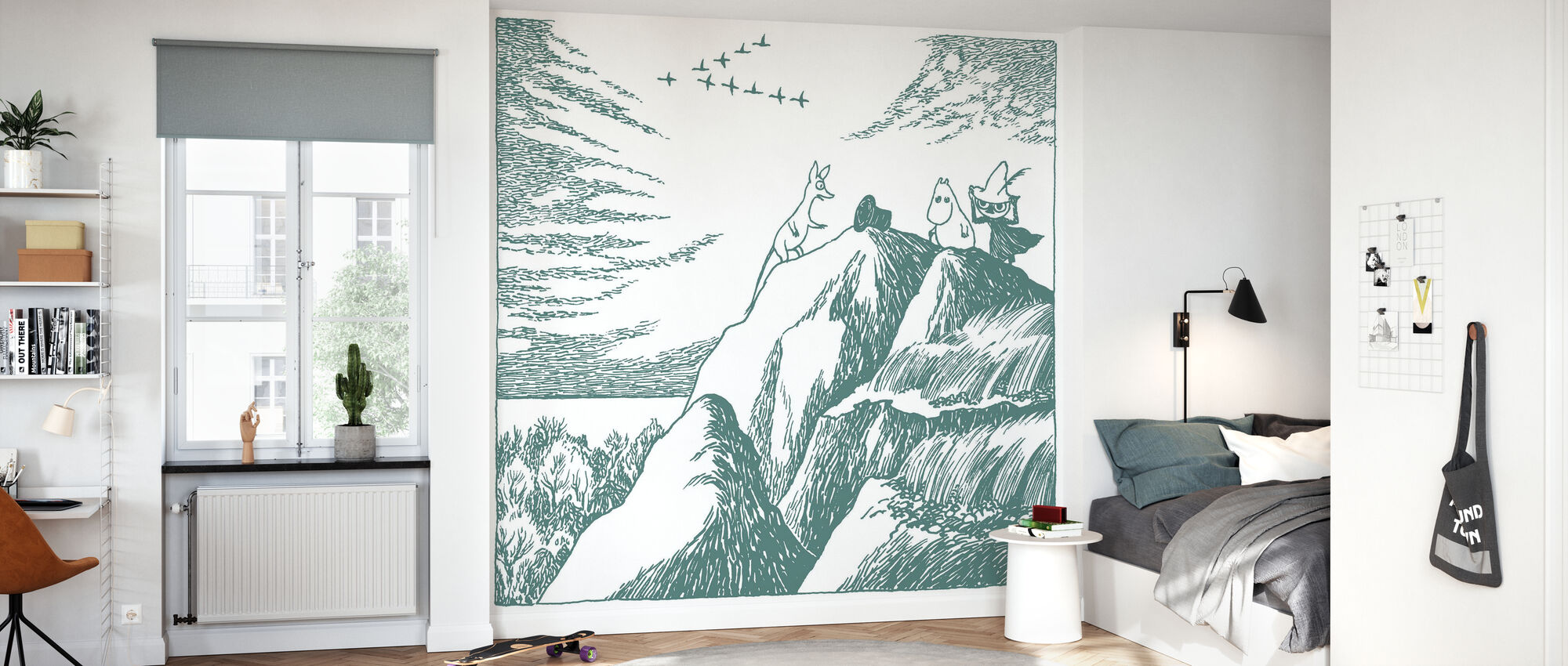 Moomin - The Discovery of the Hobgoblin's Hat – Green - Wallpaper - Kids Room