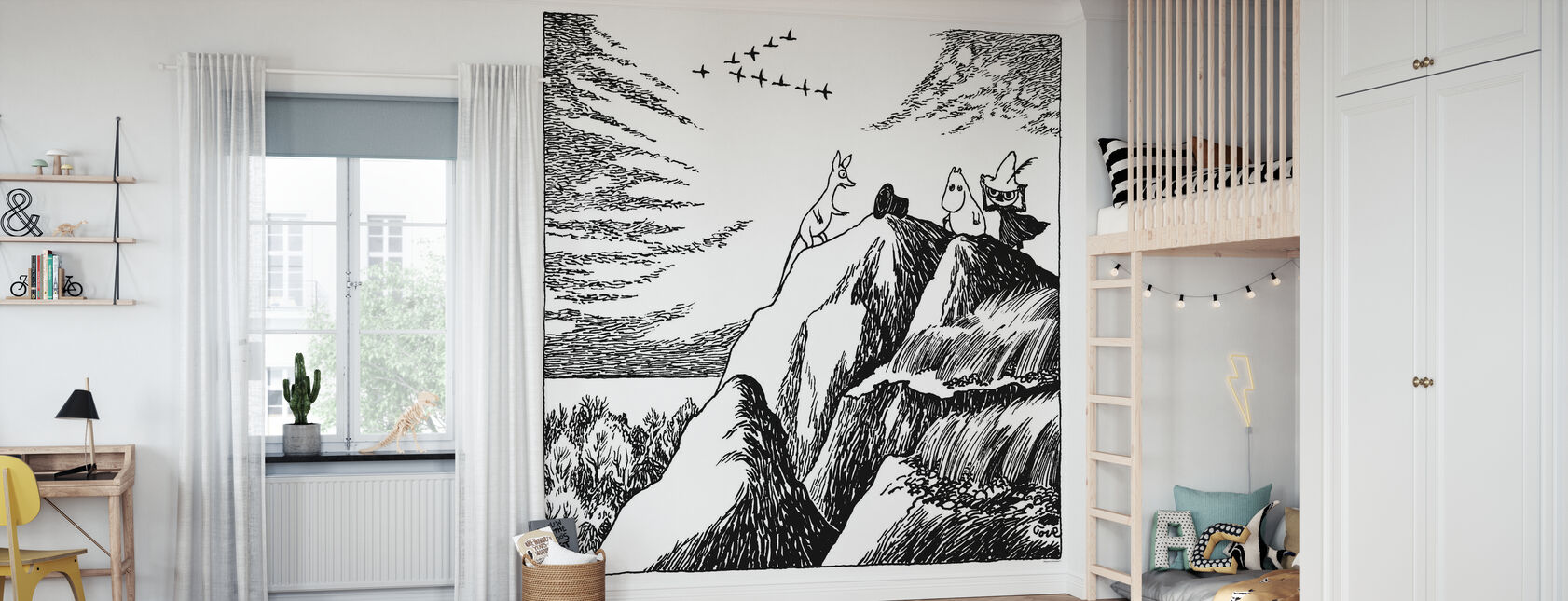 Moomin - The Discovery of the Hobgoblin's Hat - Wallpaper - Kids Room