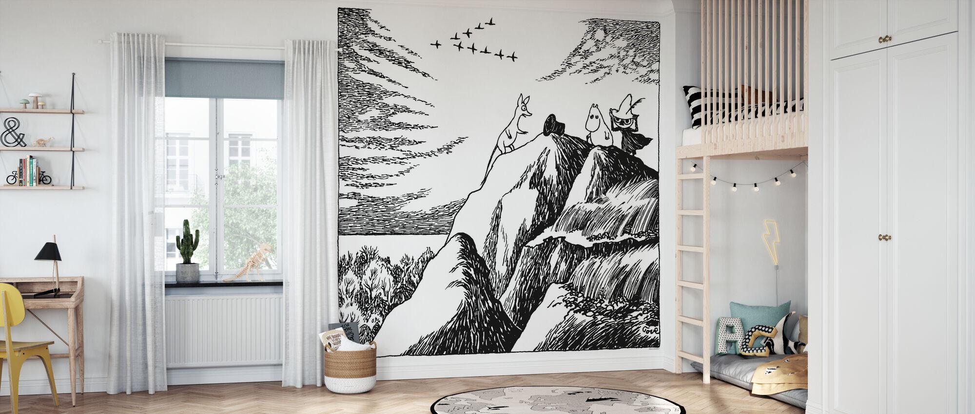 Mumin - Die Entdeckung des Hobgoblin Hut - Tapete - Kinderzimmer