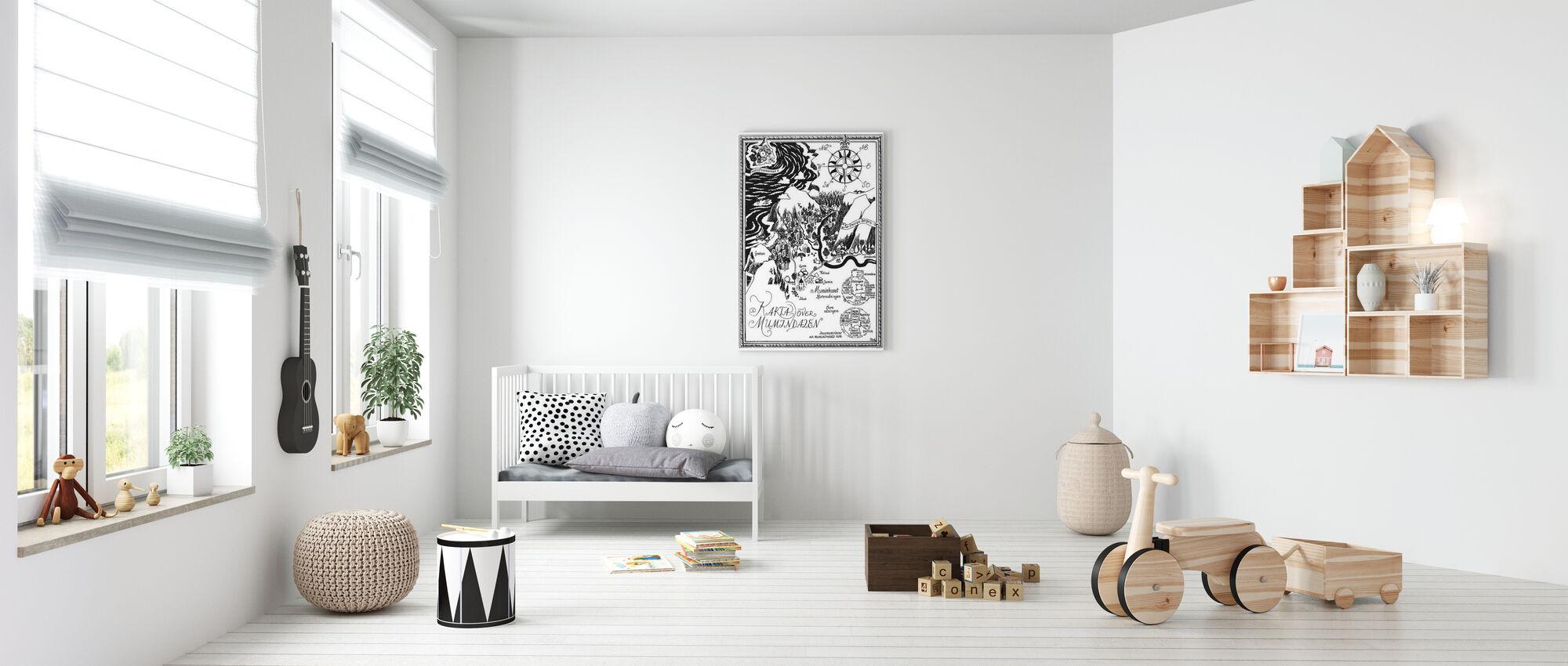 Moomin - Kaart over Moomin vallei - Canvas print - Babykamer