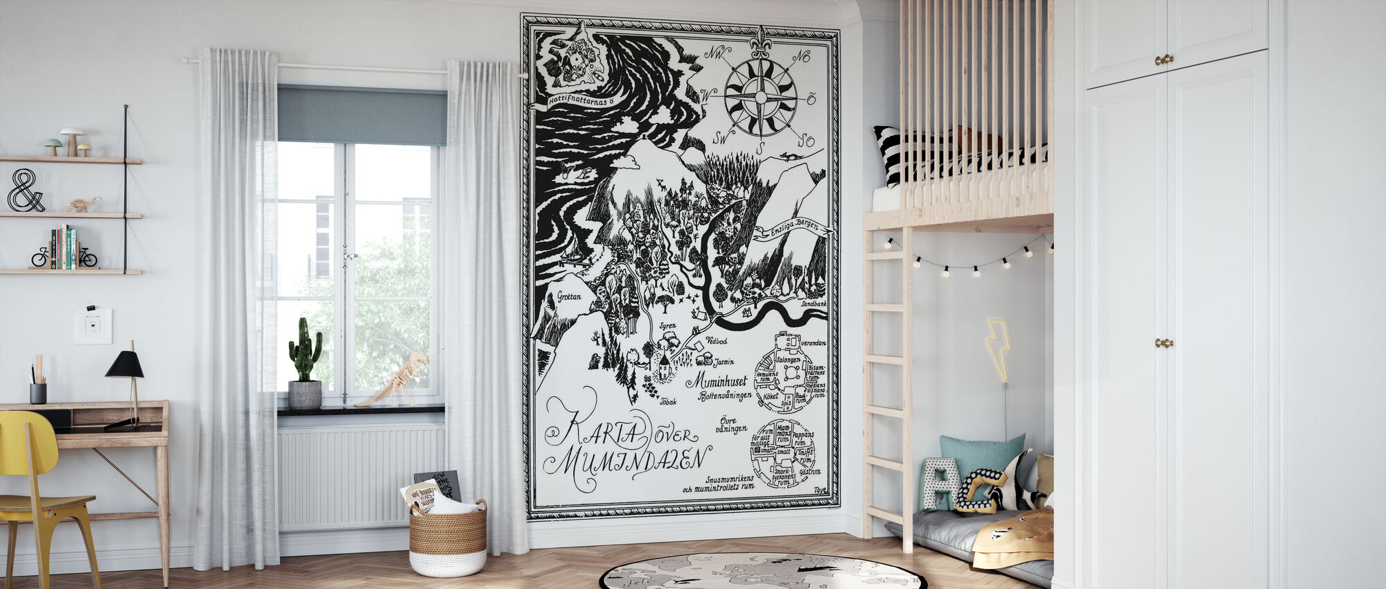 Moomin - Map over Moomin valley - Wallpaper - Kids Room