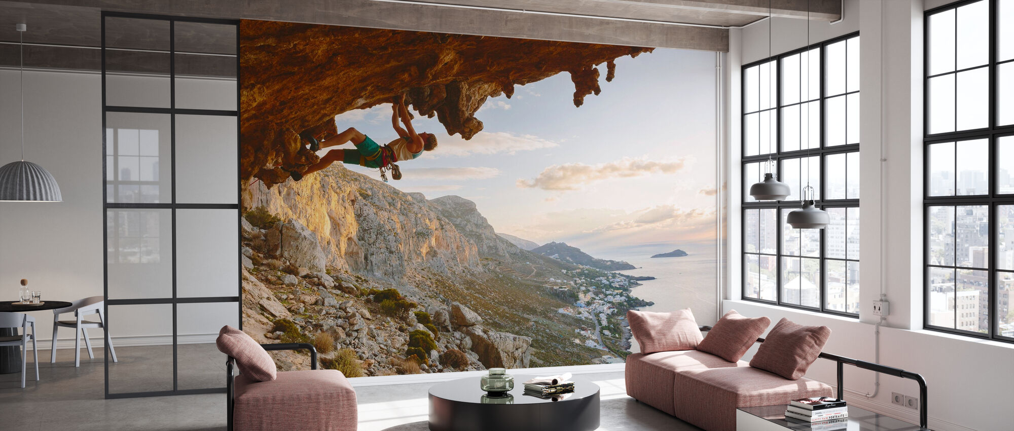 Climbing by the Aegean Sea - Wallpaper - Office