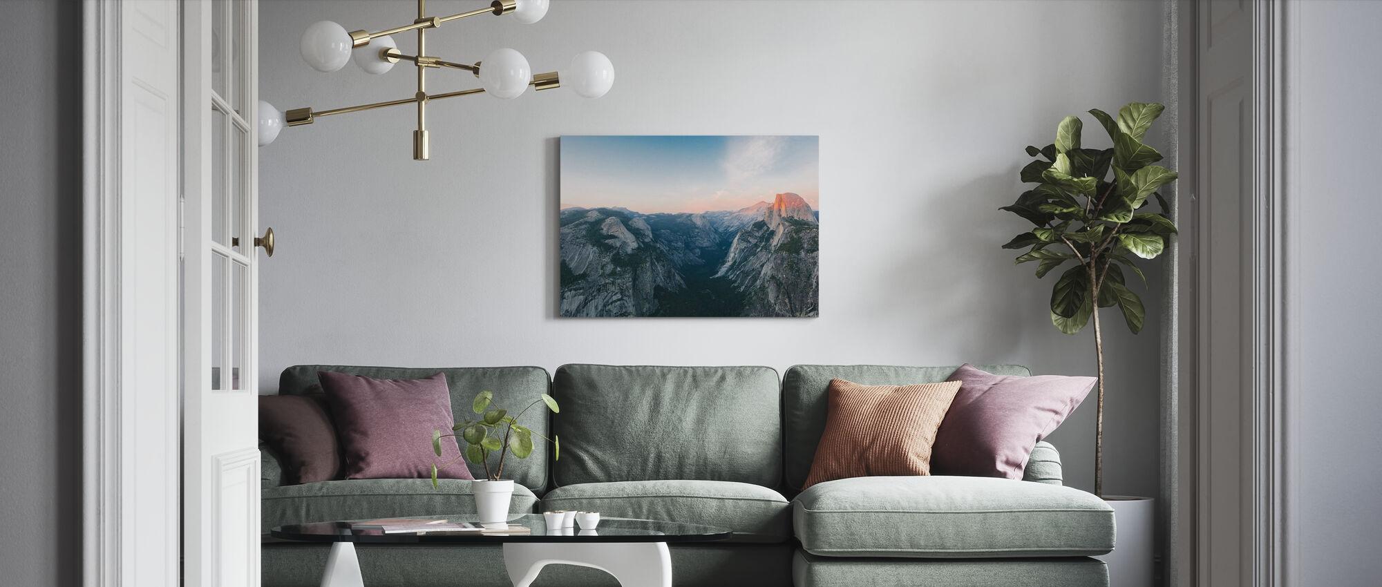 Half Dome, Nationaal Park Yosemite - Canvas print - Woonkamer