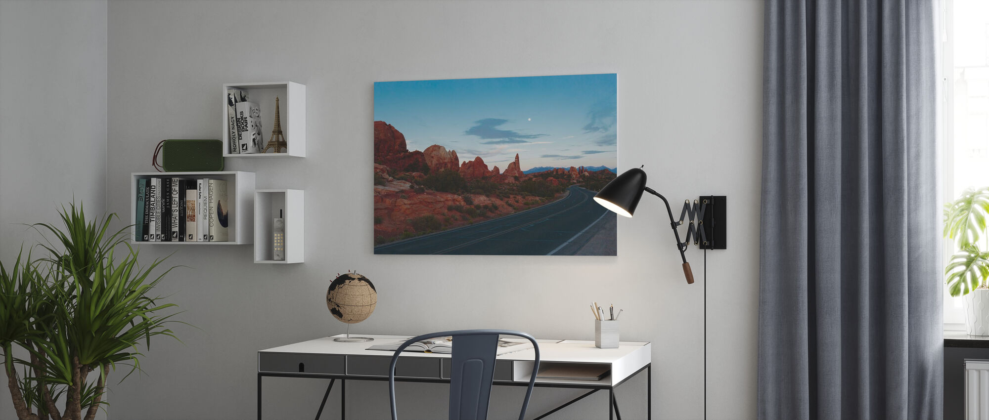 Road in Arches National Park - Canvas print - Office