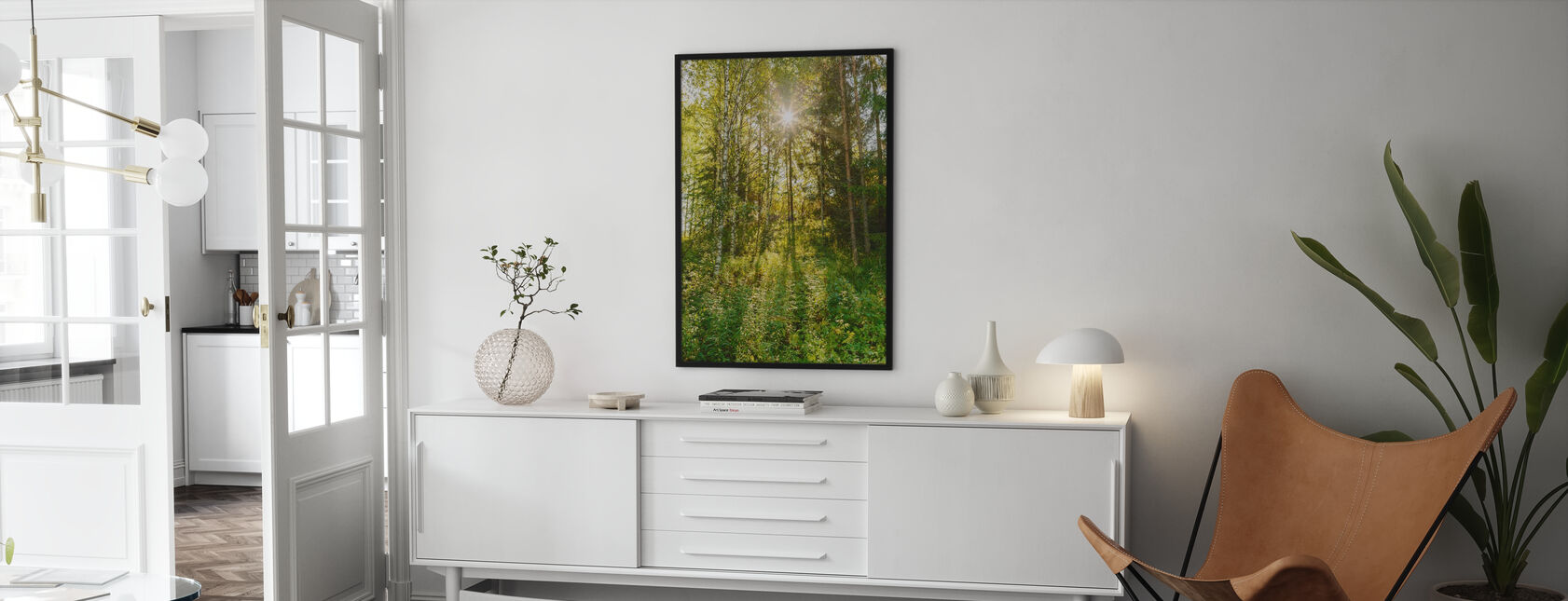Sunlit Deciduous Trees, Finland - Poster - Living Room