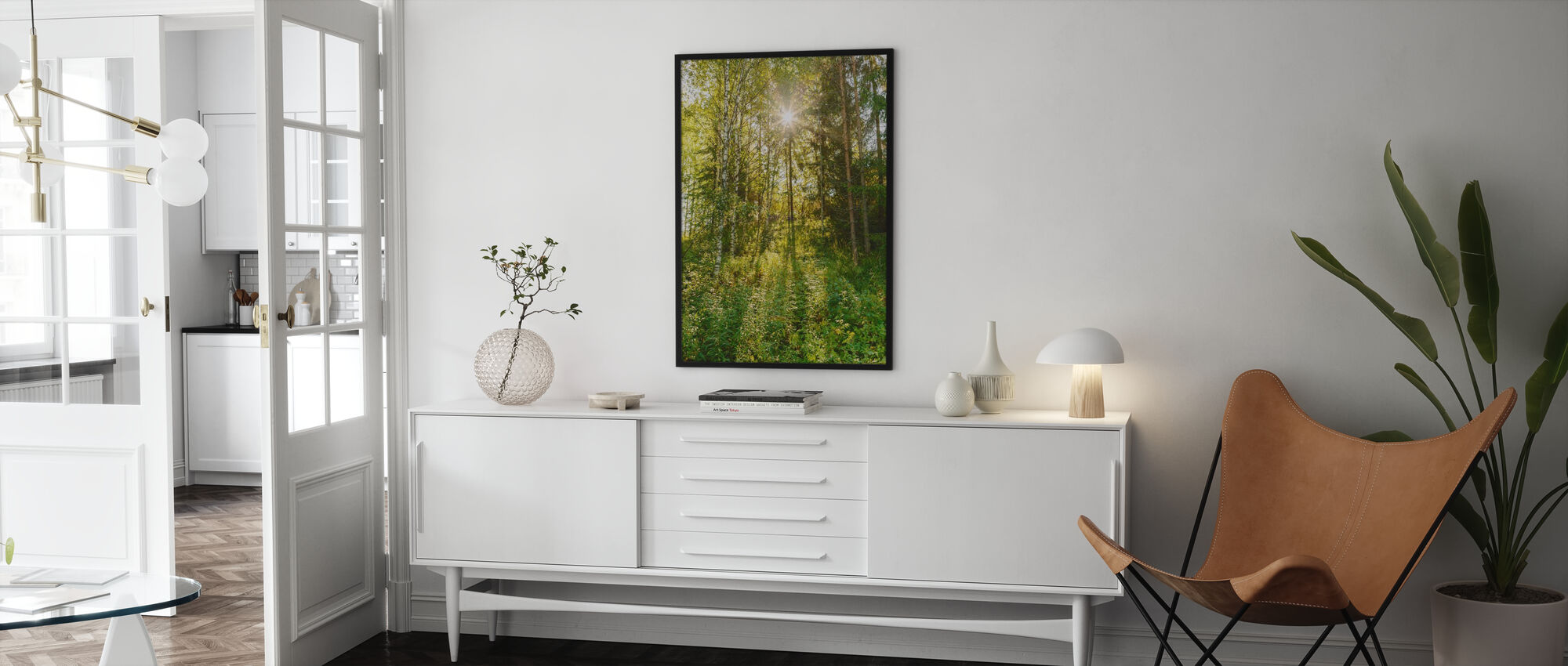 Solbelyste løvtrær, Finland - Plakat - Stue