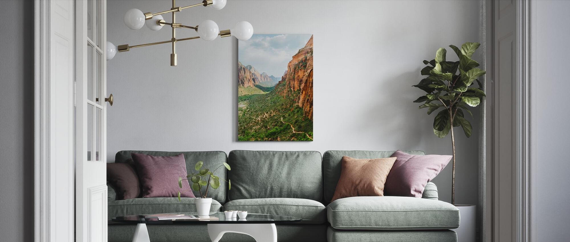 Valley in Zion National Park, Verenigde Staten - Canvas print - Woonkamer