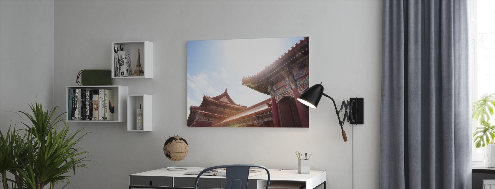 Bejing-gebouwen - Canvas print - Kantoor
