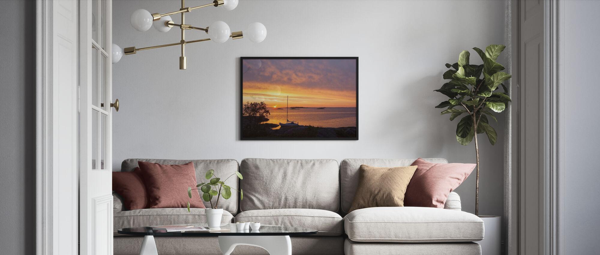 Tukholman saariston maisemat - Kehystetty kuva - Olohuone