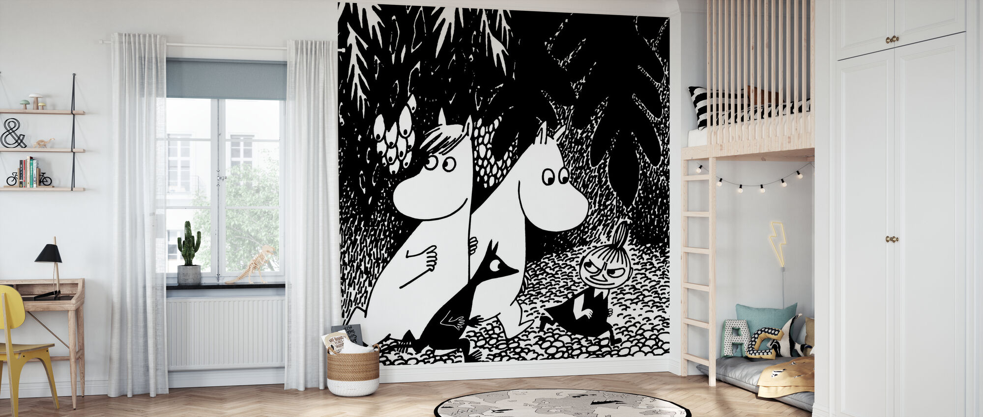 Moomin - zelfs donkerder - Behang - Kinderkamer