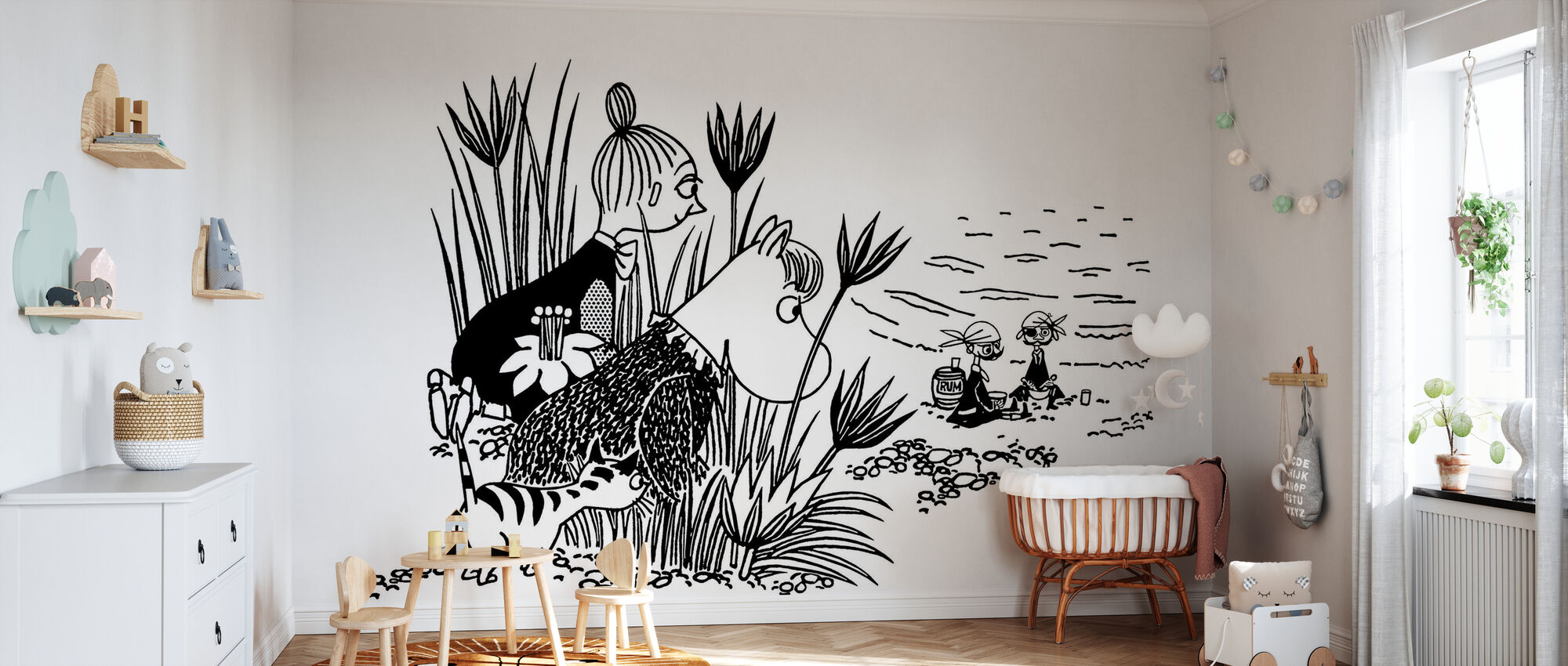 Moomin - Pirate Picnic - Wallpaper - Nursery