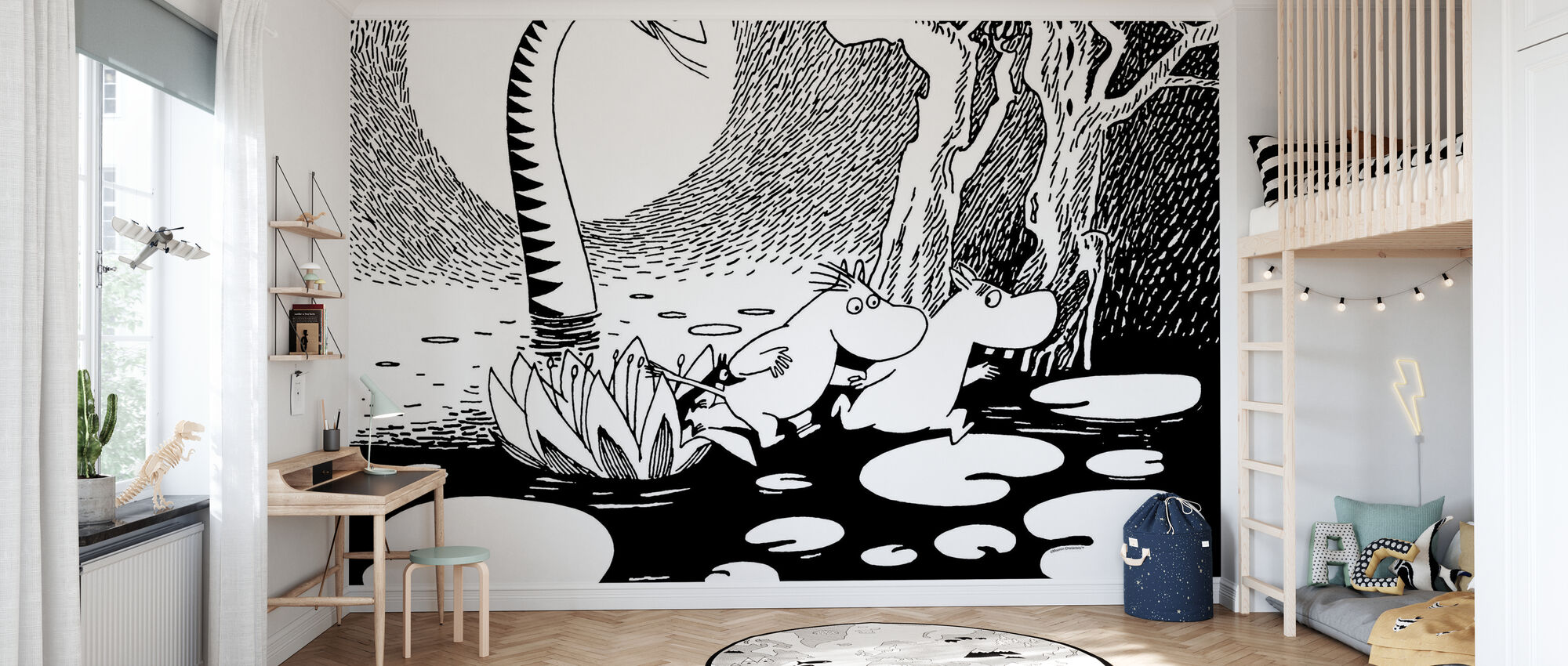 Moomin and Snorkmaiden and the Giant Snake - Wallpaper - Kids Room