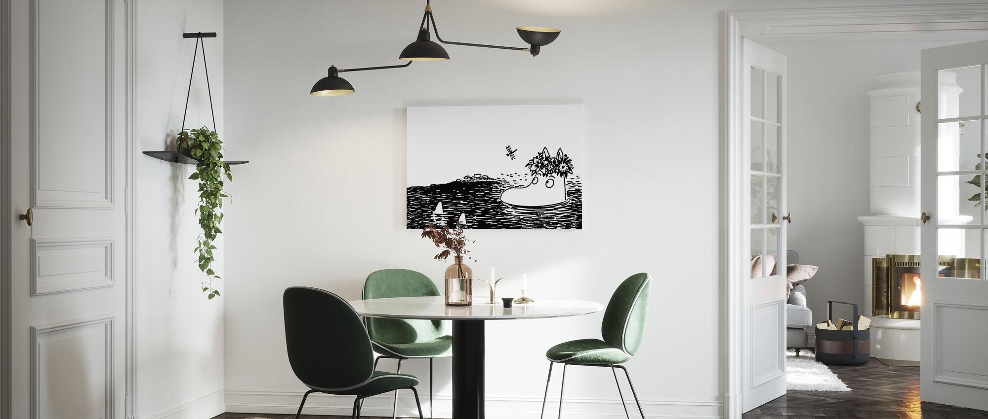 Moomin Contemplating - Canvas print - Kitchen