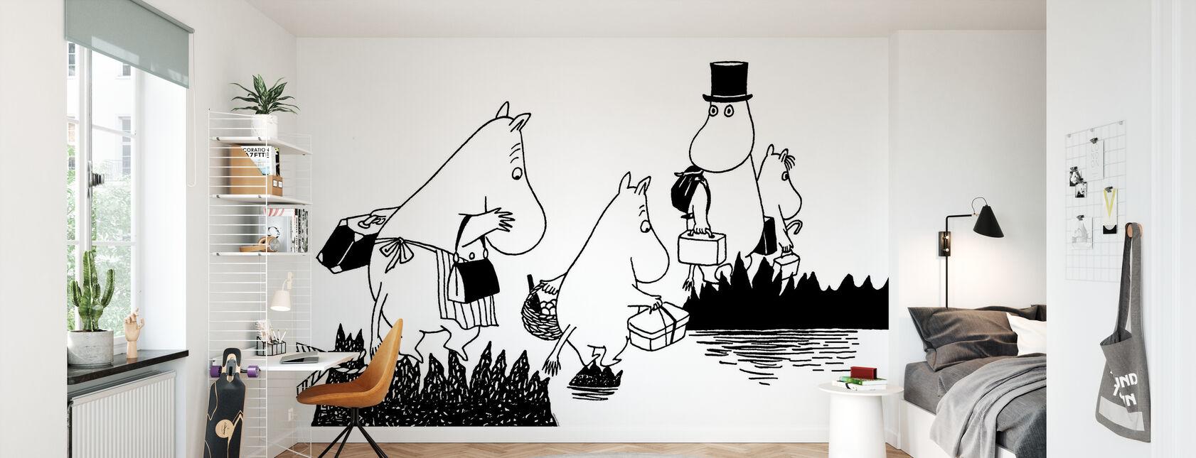 Moomin-familien - Tapet - Barnerom
