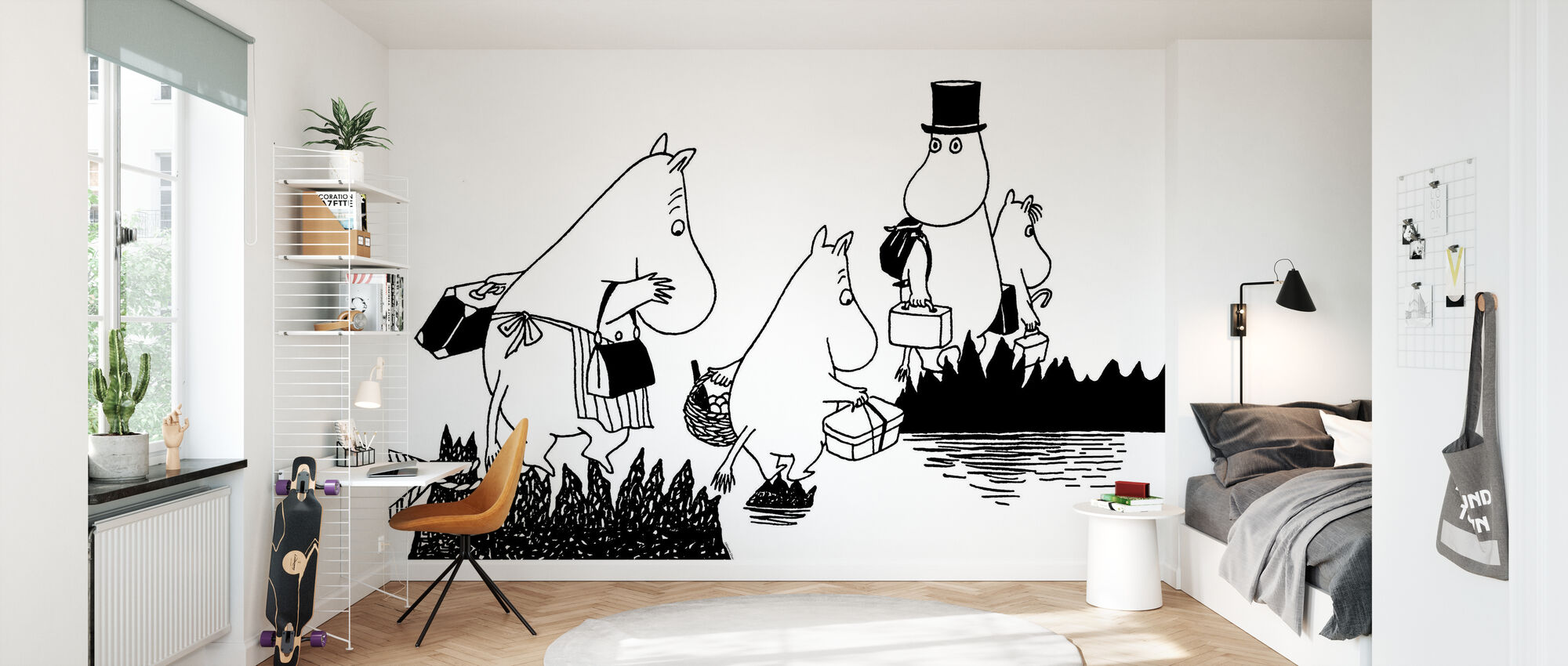 Moomin Family - Wallpaper - Kids Room