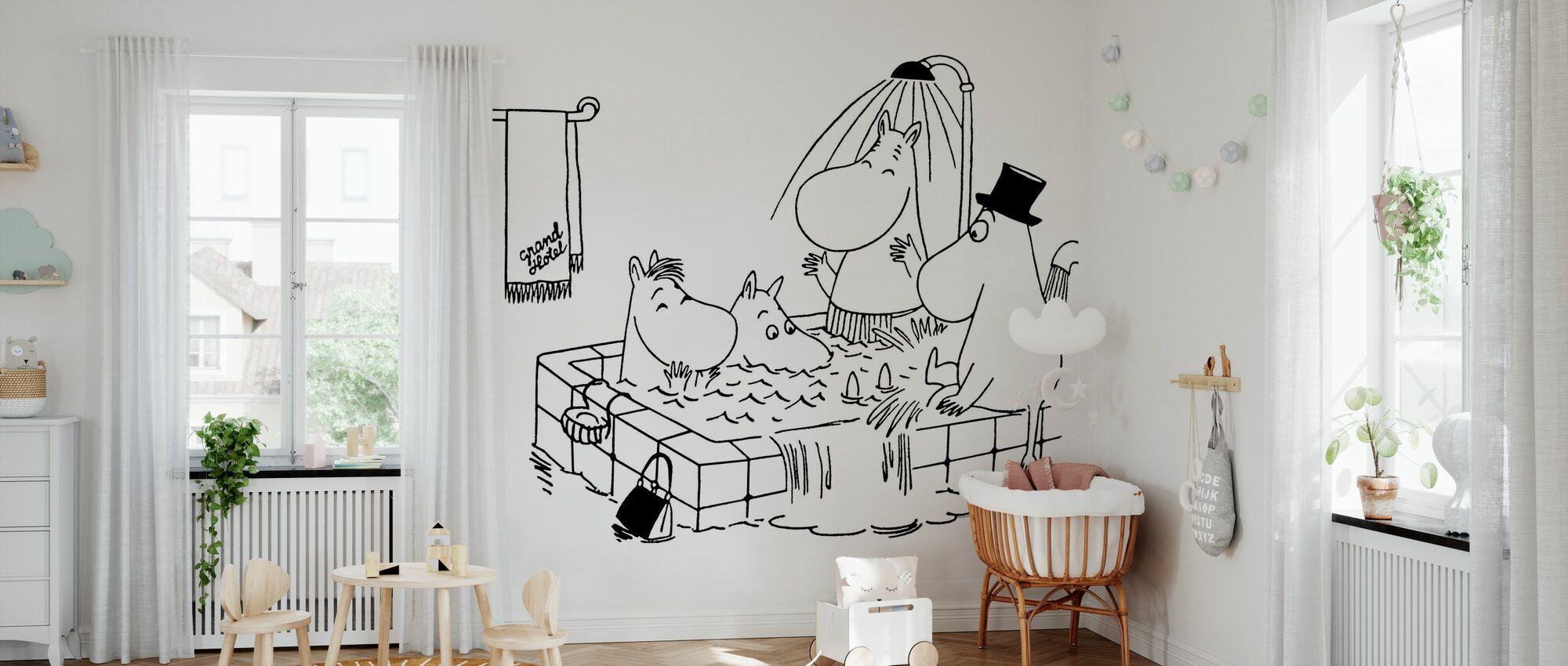 Mumin - Familie Mumin im Grand Hotel - Tapete - Babyzimmer