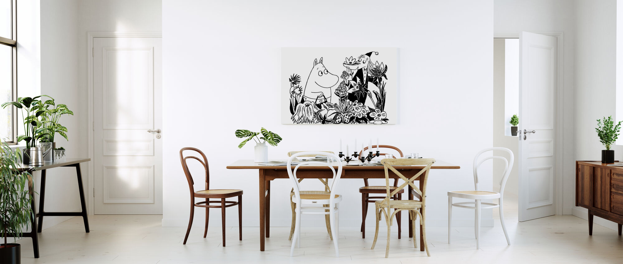 Moominmamma and Fillyjonk - Canvas print - Kitchen