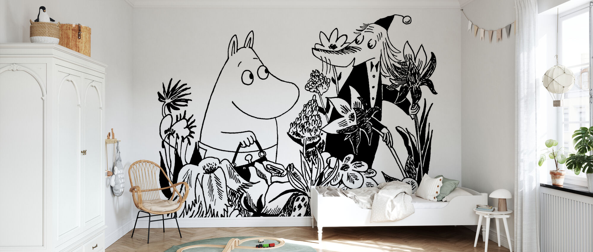 Moominmamma and Fillyjonk - Wallpaper - Kids Room