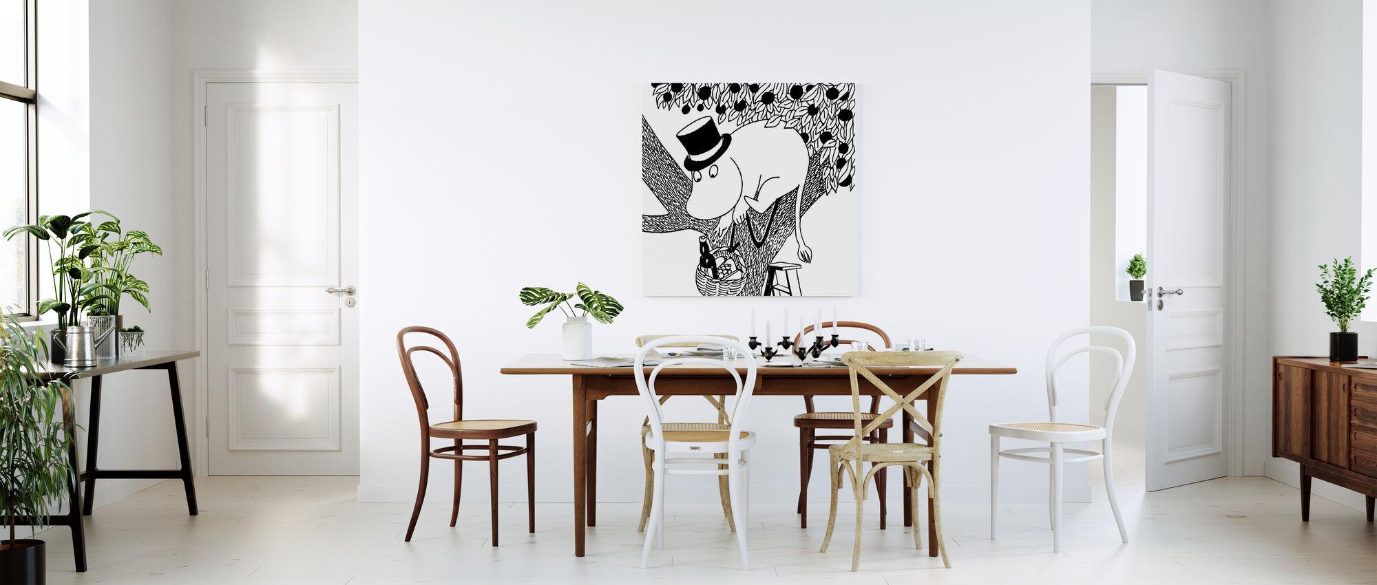 Moomin - Moominpappa the Epicurean - Canvas print - Kitchen