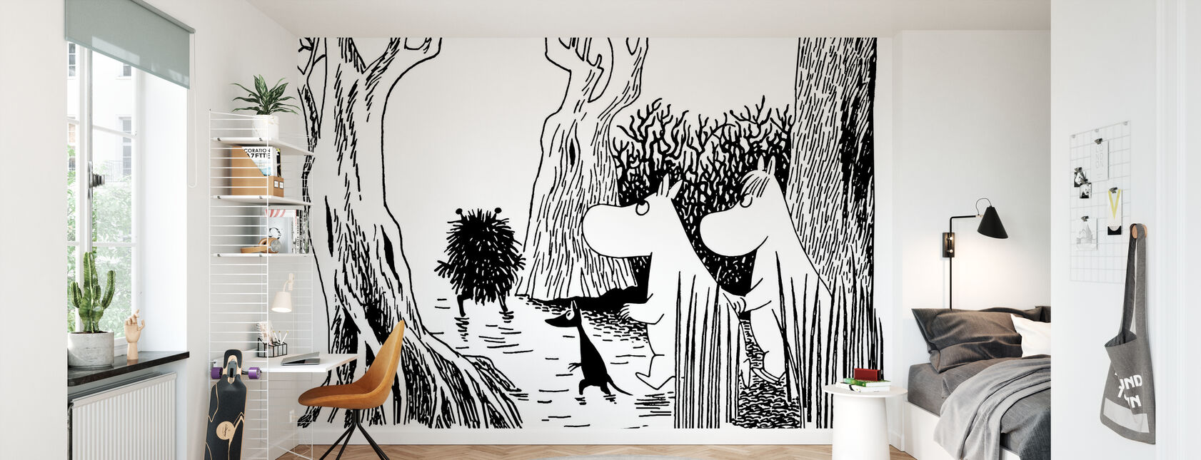 Moomin - Stinky - Behang - Kinderkamer