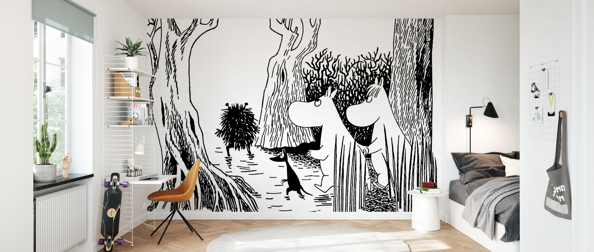 Moomin - Stinky - Wallpaper - Kids Room