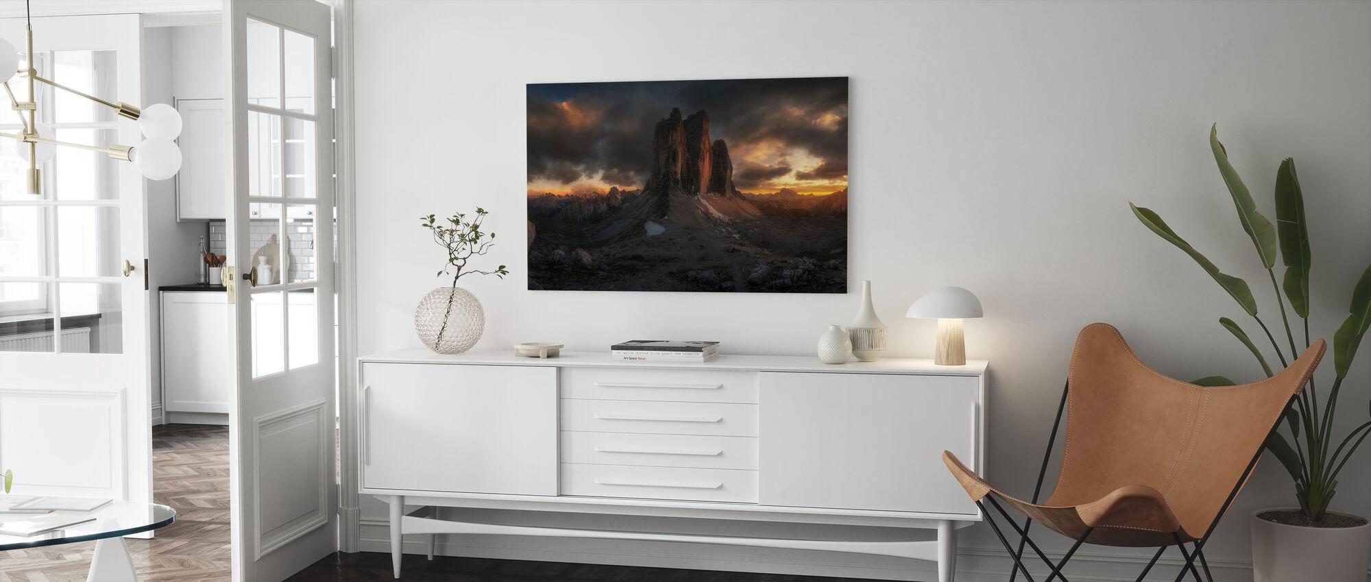 Dolomieten Zonsondergang - Canvas print - Woonkamer