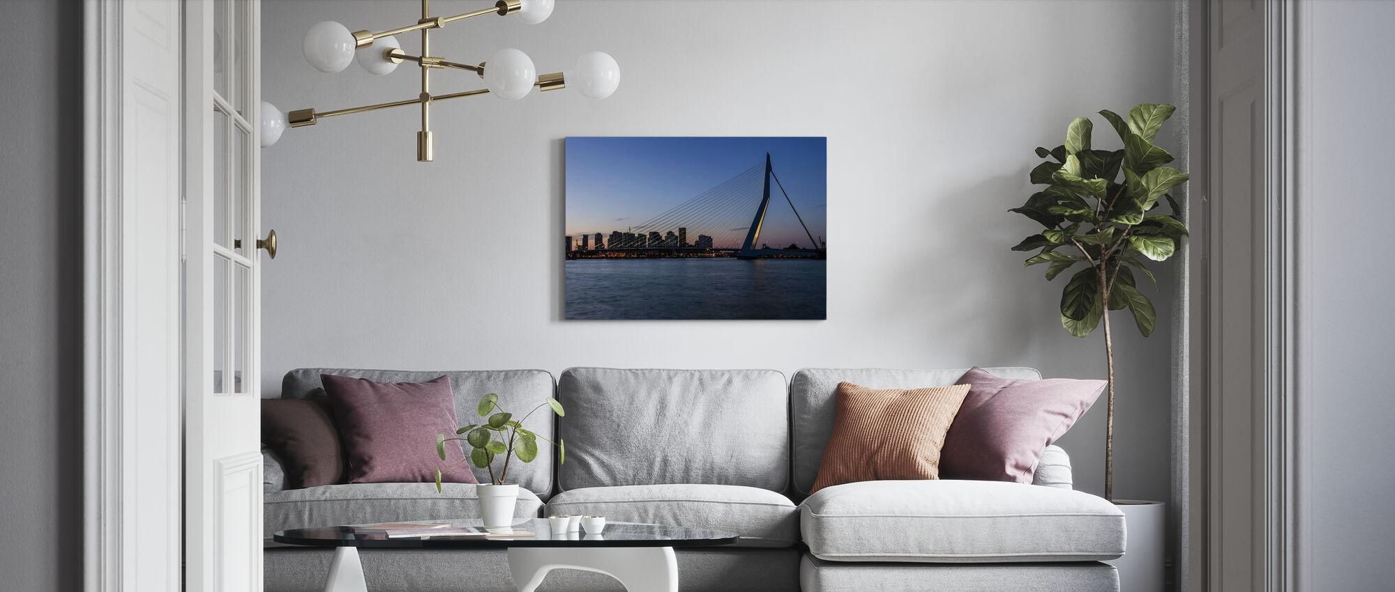 Erasmusbrücke in Rotterdam - Leinwandbild - Wohnzimmer