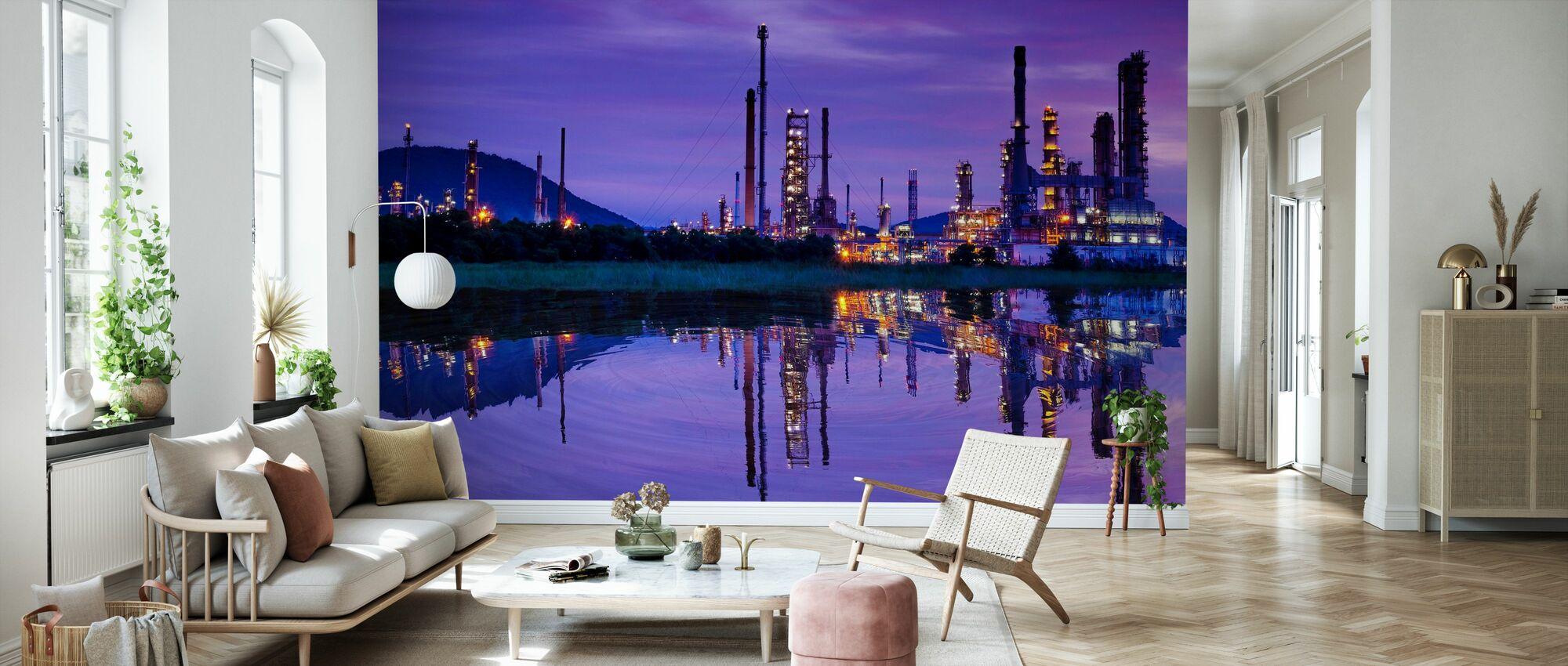 Petrochemische industrie - Behang - Woonkamer