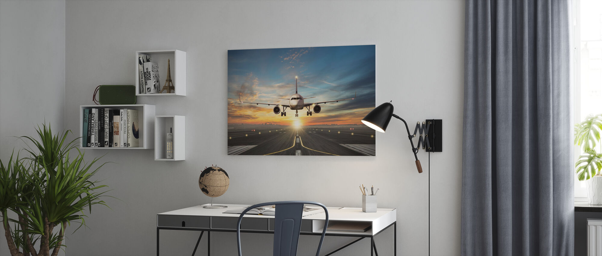 Sunset Inflight - Canvas print - Office