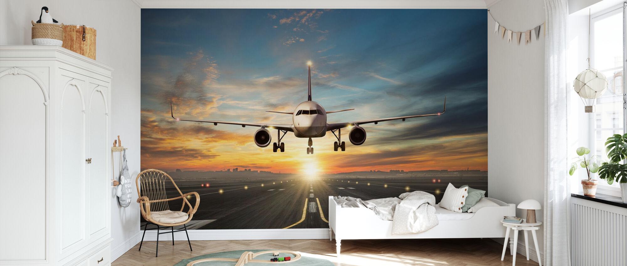 Sunset Inflight - Wallpaper - Kids Room