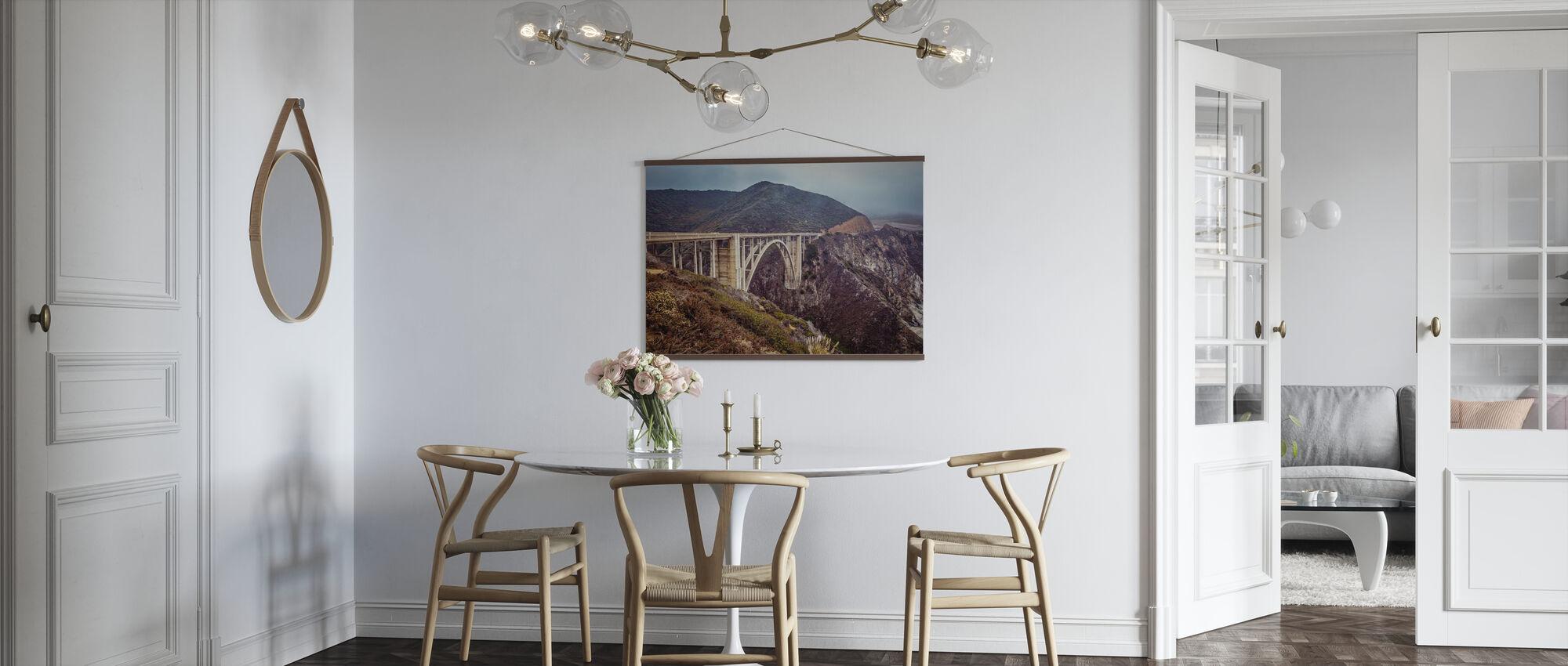 Bixby Bridge Look Vintage - Póster - Cocina