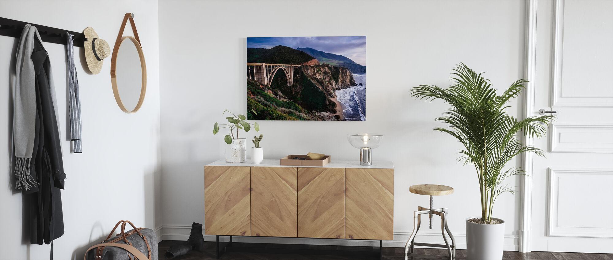 Dramatic Bixby Bridge - Canvas print - Hallway