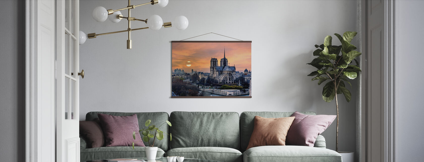 Gothic Paris - Poster - Living Room