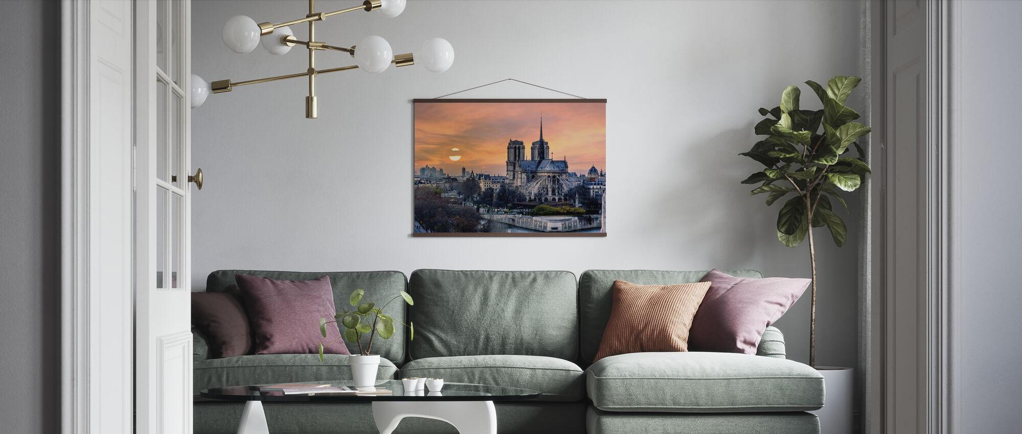 Gothic Paris - Poster - Living Room