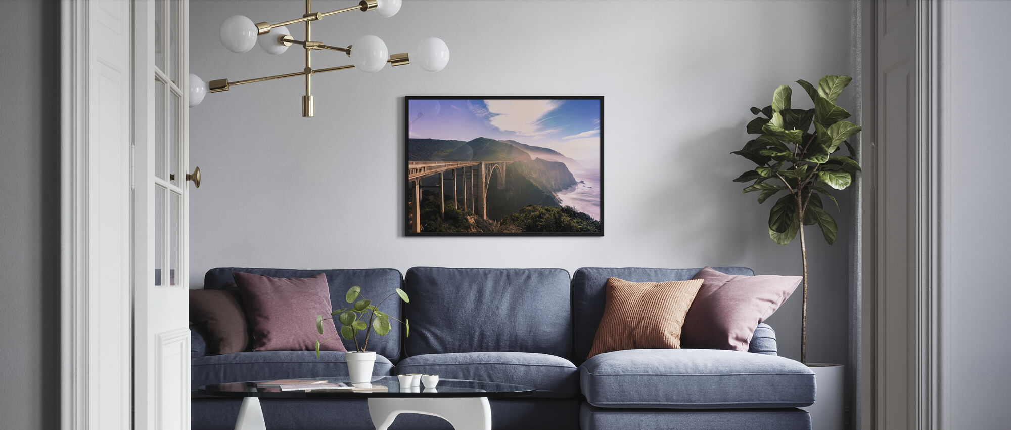Monterey drömmar - Inramad tavla - Vardagsrum