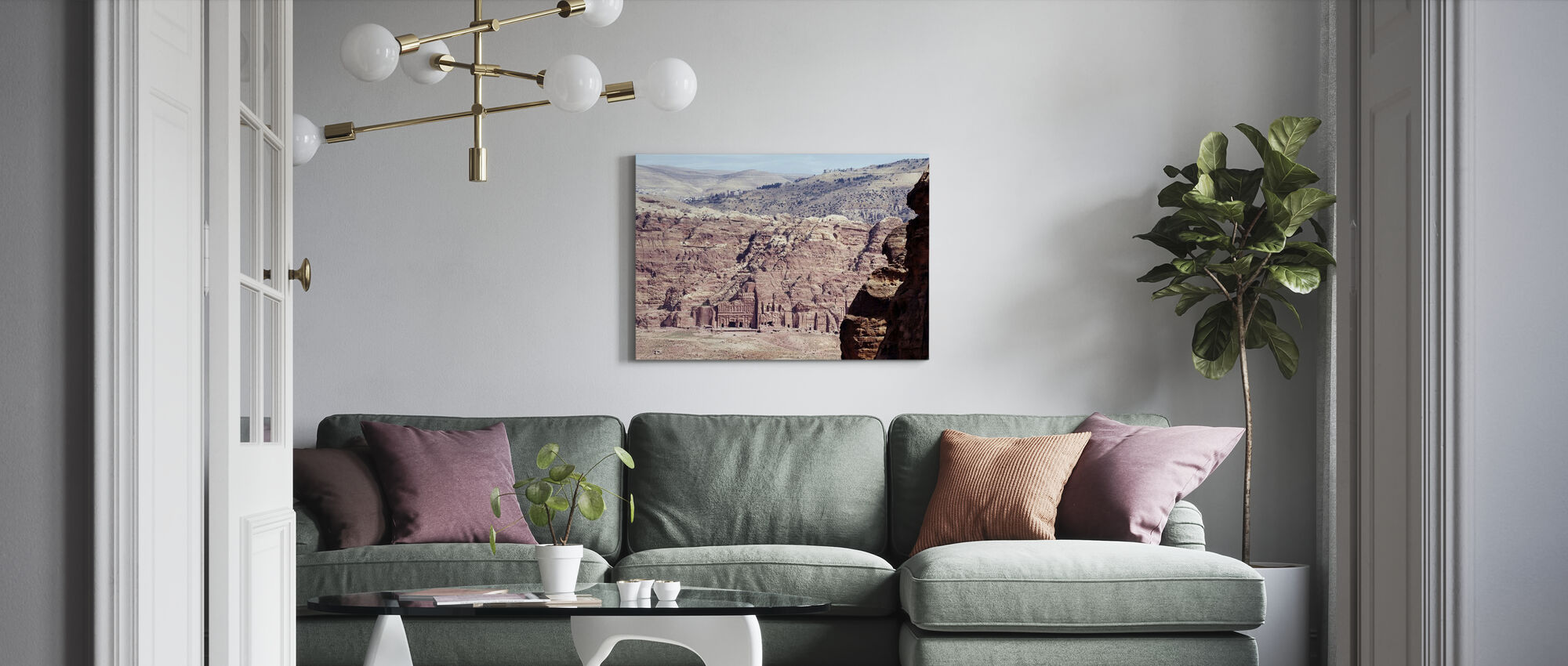 The Royal Tombs of Petra - Canvas print - Living Room