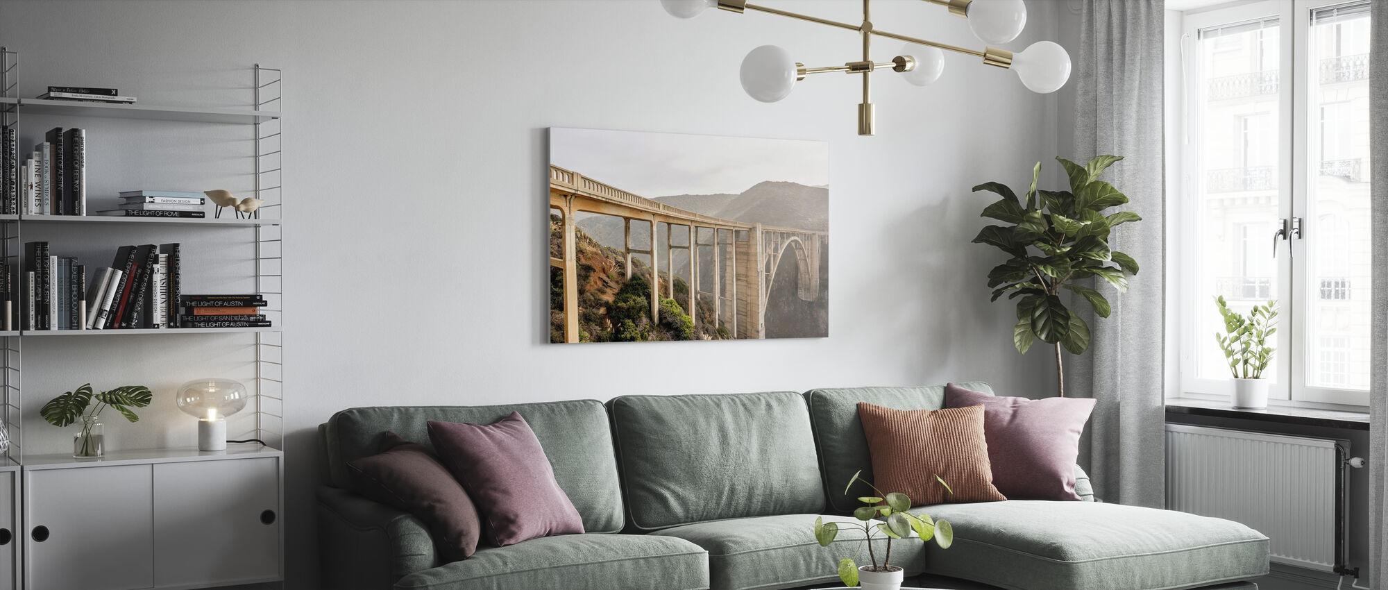 White Bixby Creek Bridge - Canvas print - Living Room