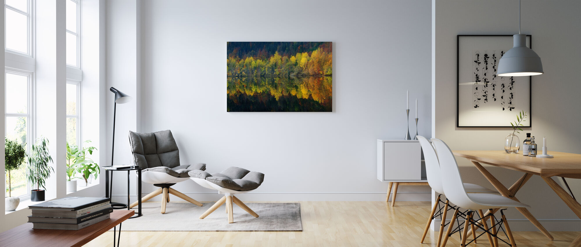 Höstens tystnad - Canvastavla - Vardagsrum