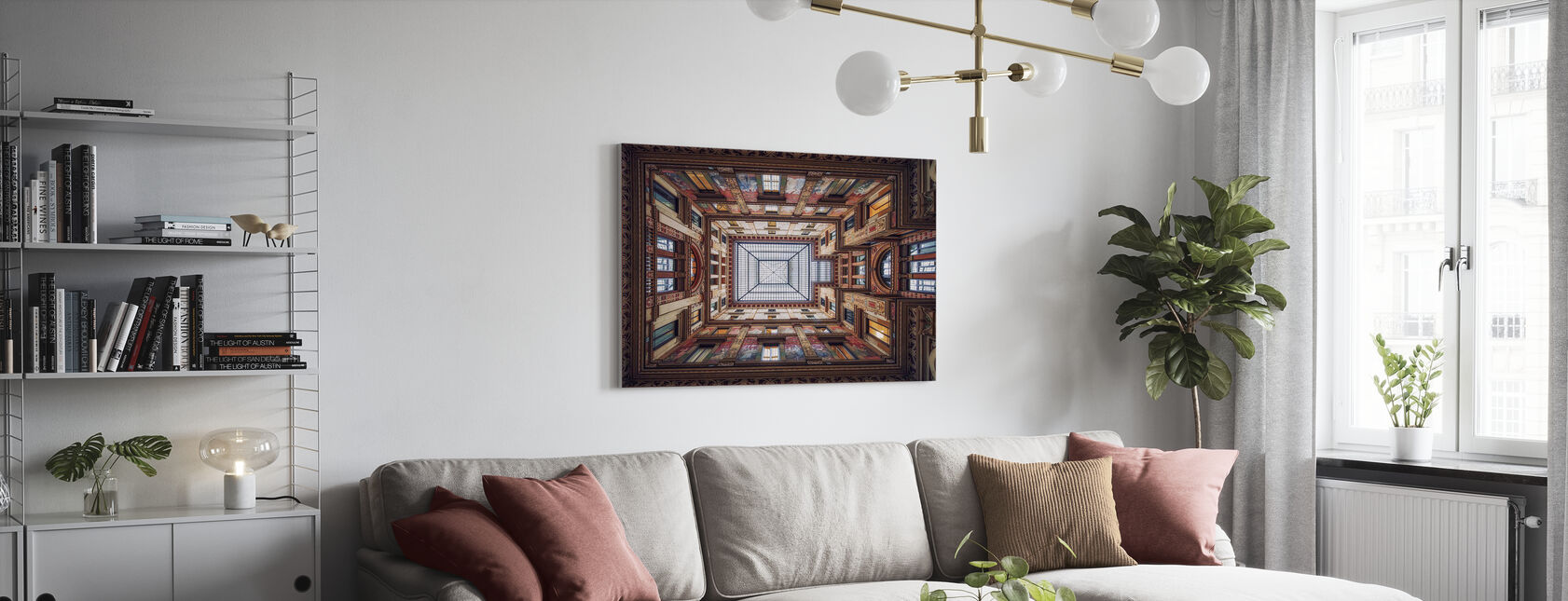 Galleria Sciarra, Rome - Canvas print - Living Room